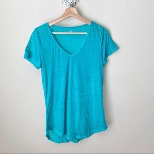 Mudd teal-blue V neck layering tee shirt